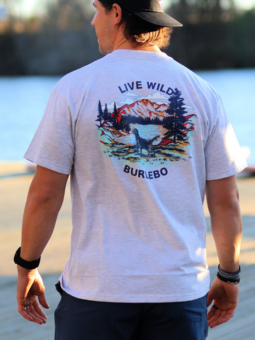 "Burlebo ""Live Wild"" T-Shirt in Ash Grey"