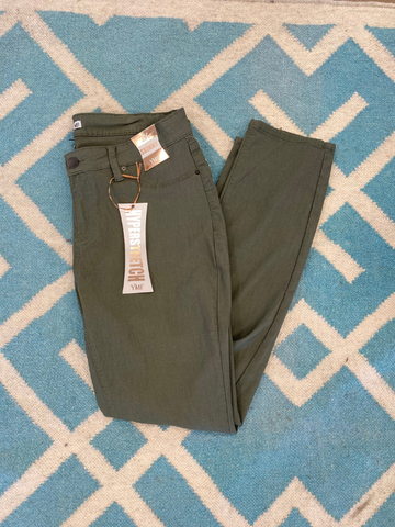 Plus Moss Green 5 Pocket Skinny