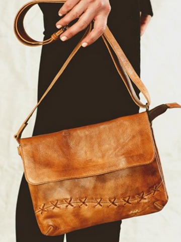 "Bed Stu ""Cleo"" Crossbody/Clutch in Tan Rustic"