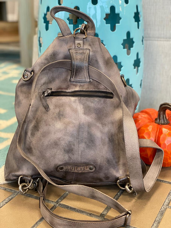 "Bed Stu ""Delta"" Backpack in Gray Dip Dye"