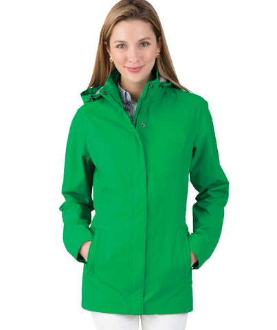5765G Charles River Logan Rainjacket in Green