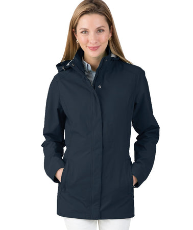 5765 Charles River Logan Rain Jacket in Navy