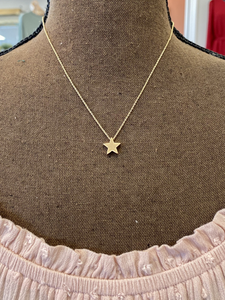Matte Gold Star Necklace