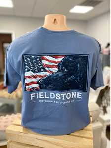 Fieldstone Lab Flag Tee in Navy