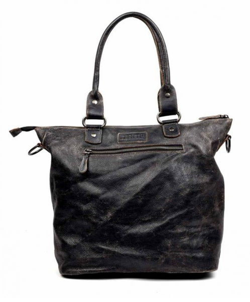 "Bed Stu ""Big Fork"" Tote in Black Lux"