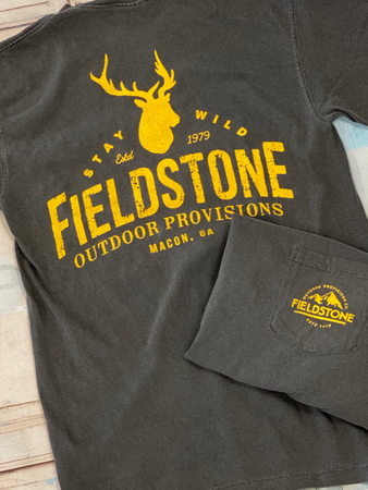 "Fieldstone ""Trophy Deer"" Tee in Gray"