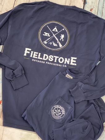 "Fieldstone ""Navy Blue"" Long Sleeve Tee"