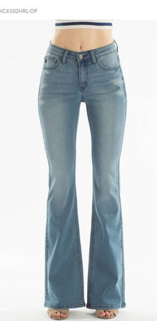 KanCan 5 Pocket Flare Jean in Medium Wash