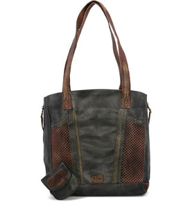 "Bed Stu ""Amelie"" in Black Teak Rustic Handbag"