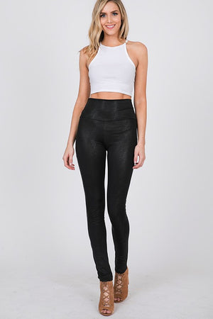 Faux Textured Leather Leggings