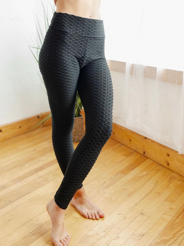 "Bootylicious ""Tik Tok"" Leggings in Black"