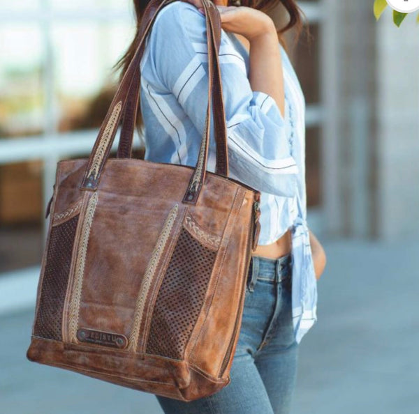 "Bed Stu ""Amelie"" Handbag in Tan/Teak Mason"