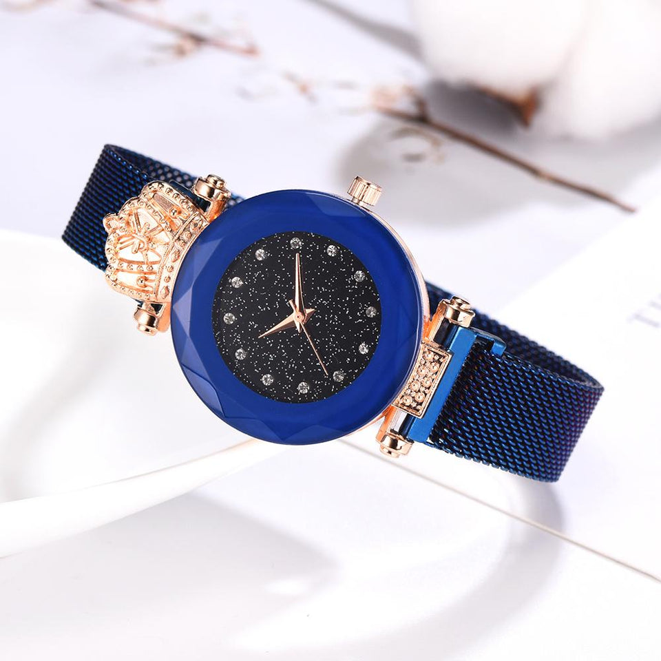 Luxury Women Watches Ladies Magnetic Starry Sky