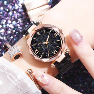 Luxury Women Watches Magnetic Starry Sky Ladies