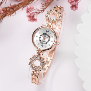 Women Bracelet Watch Rose Gold Diamond Fashion Luxury Ladies