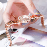 2pc/set Luxury Watches Rose Gold Diamond
