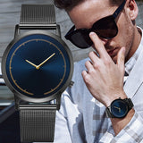 Mens Business Male Watch Classic Gold Quartz