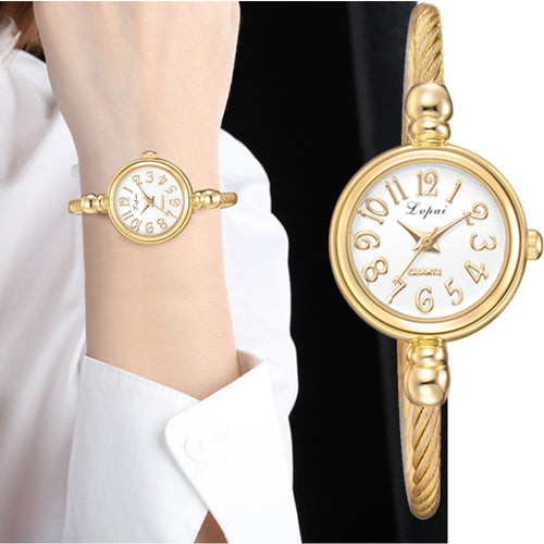 Women Small Gold Bangle Bracelet Luxury Watches