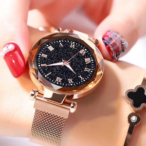 Starry Sky Watch Women's Luxury Magnetic Magnet Buckle