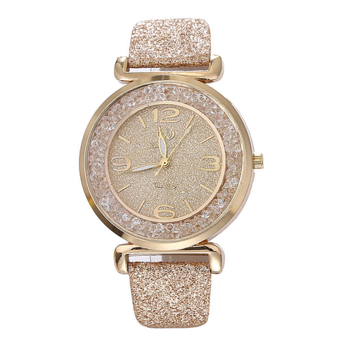 Luxury Crystal Rhinestone Stainless Quartz WristWatches Ladies
