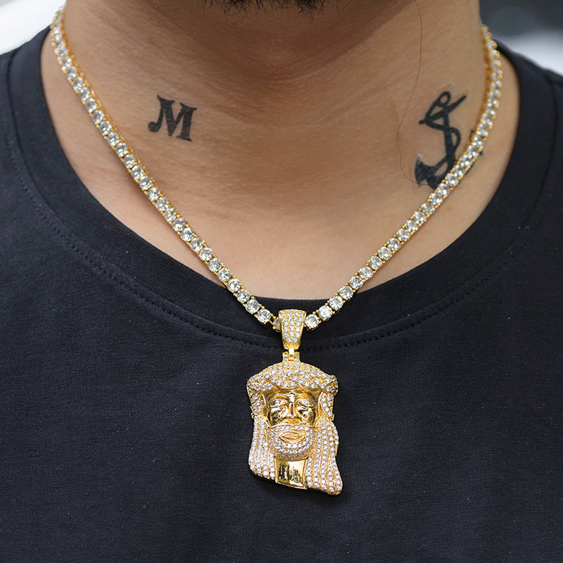 Medium Jesus Necklace