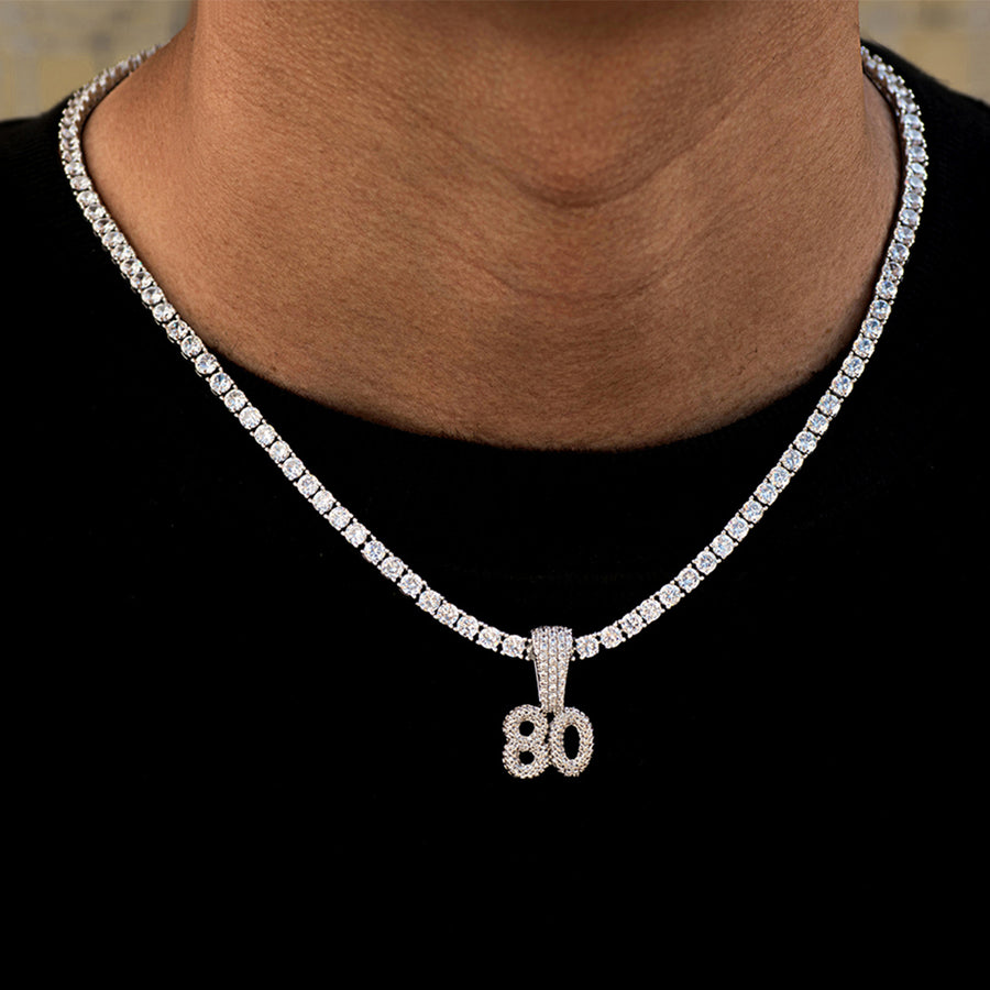 Custom Bubble Number Necklaces