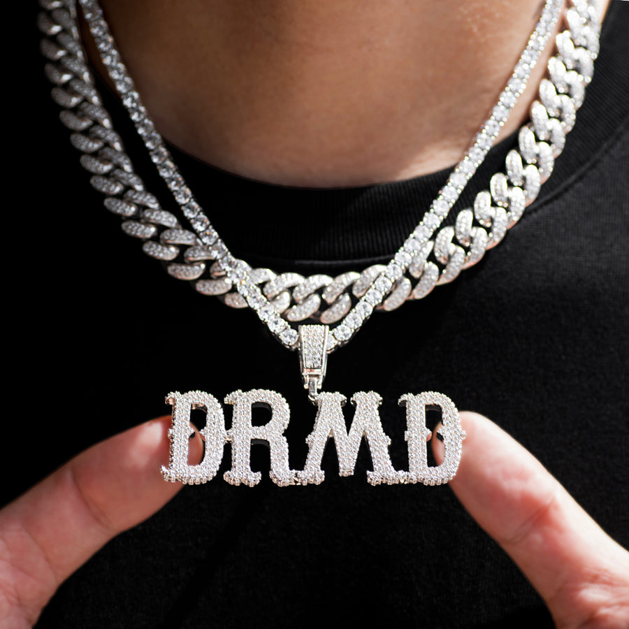 Custom City Font Name Letter Necklaces