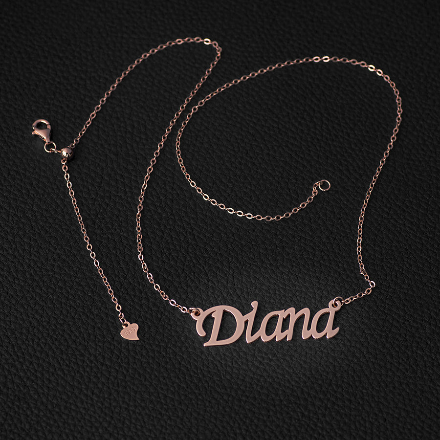 Custom Natural Name Necklace