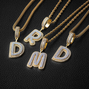 Two Layer Luxury Single Letter Necklace+Chain