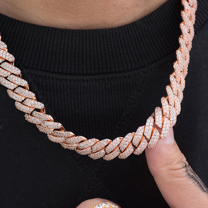 Prong Cuban Link Choker (12mm) in Rose Gold