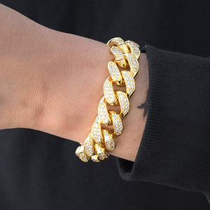 Miami Cuban Link Bracelet (19mm) in Yellow Gold