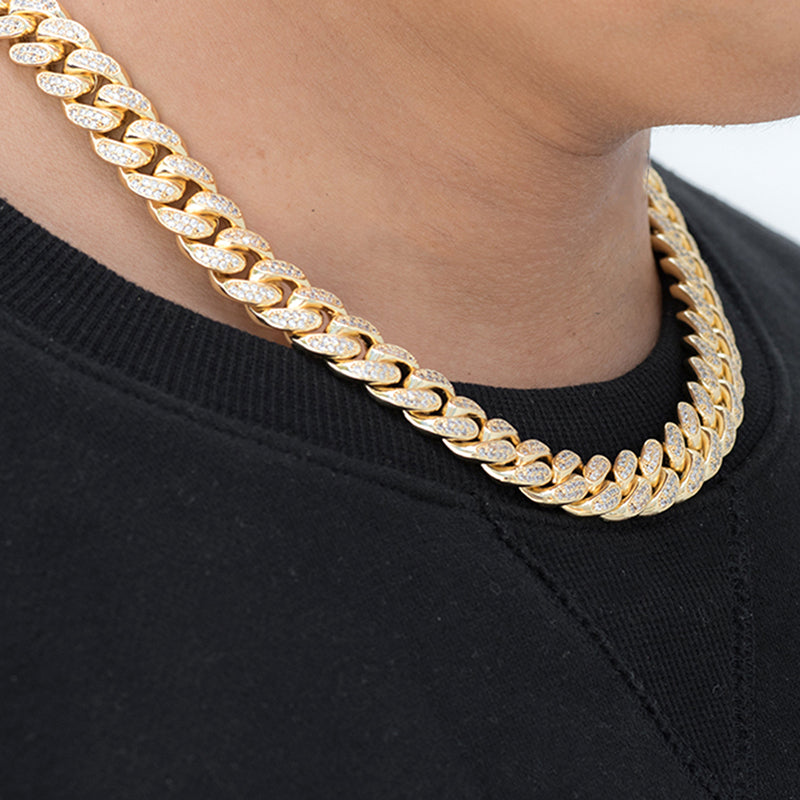Miami Cuban Link Chain (12mm) in Yellow Gold