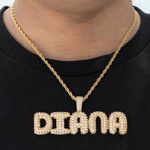 Custom Upright Letter Name Necklace