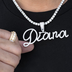 Custom Classic Handwriting Name Pendant