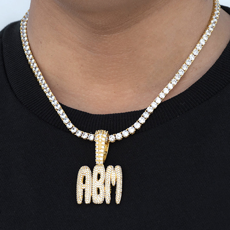 Custom Medium Bubble Letter Necklace