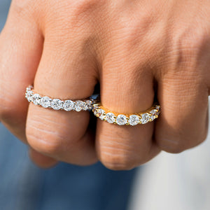 Single Row Eternity Ring Ring in White Yellow Gold DRMD Jewelry