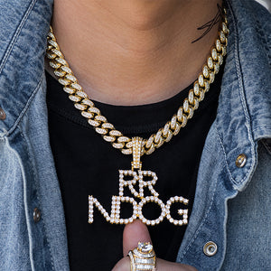 Diamond Custom Name Letter Necklace