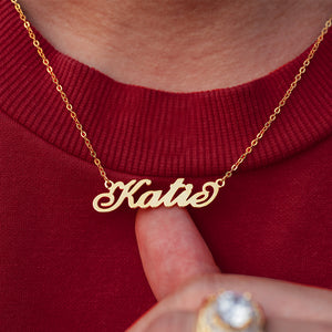Custom Personalized Classic Name Pendant