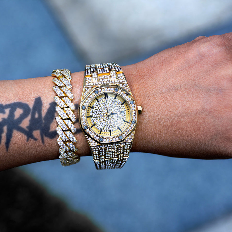 Diamond Royal Watch In Yellow Gold
