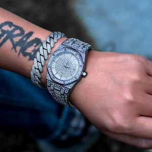 Diamond Royal Watch In White Gold DRMD Jewelry