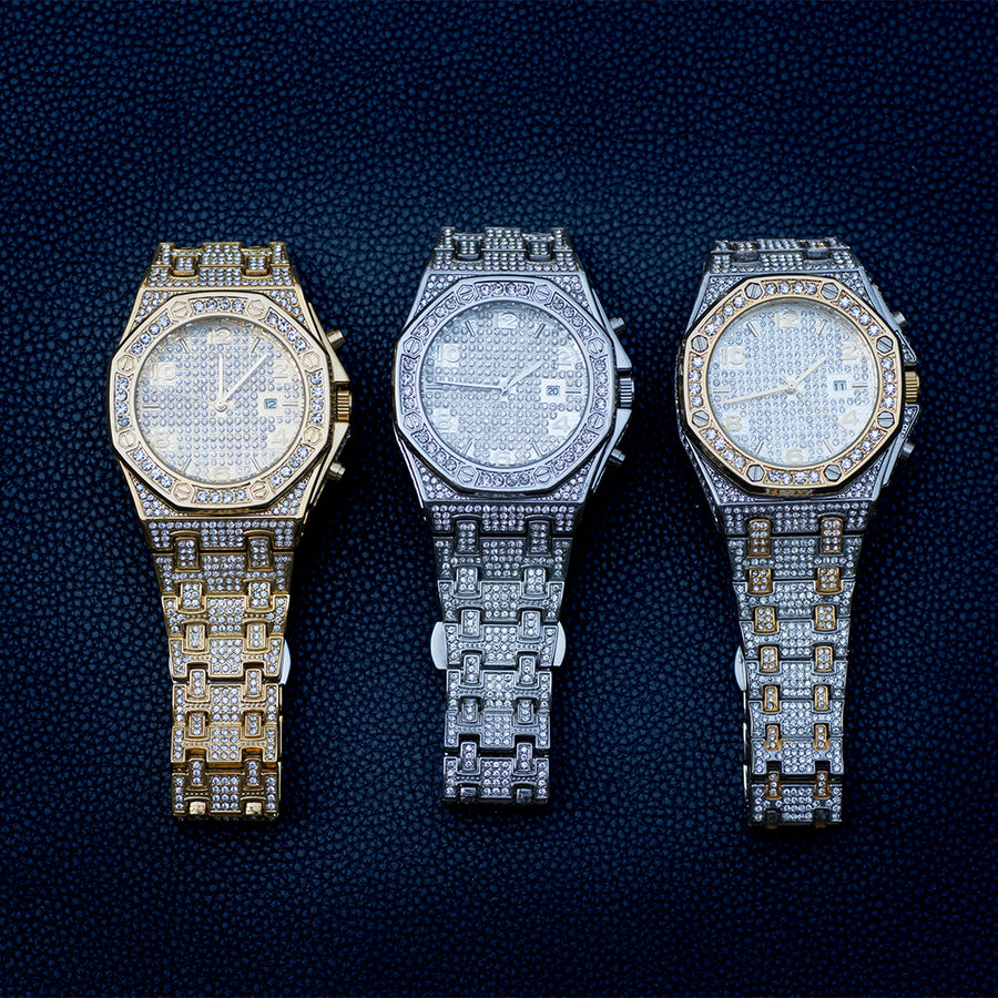 Luxury Watch In White/Yellow Gold