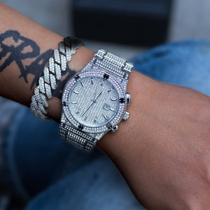 Diamond Classic Watch In White Gold DRMD Jewelry