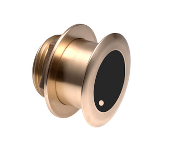 Bronze, Thru-hull, 85-135 kHz Single Channel CHIRP transducer