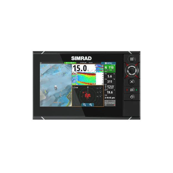SIMRAD NSS7 evo2 7-inch multifunction display with built-in GPS and sounder.