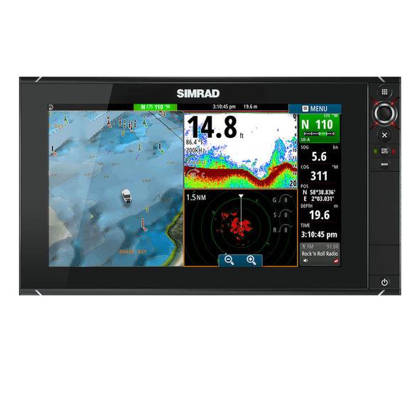 NSS16 EVO2 COMBO MFD, INSIGHT -  16-inch multifunction display with built-in GPS, sounder, and HDMI out. Includes Insight charts.