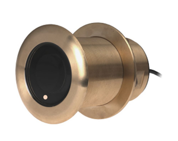 Bronze, Thru-Hull, 95-155 kHz Single Channel CHIRP transducer