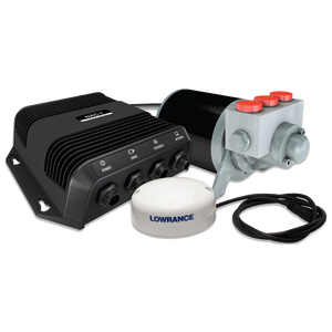 Autopilot pack for Simrad multifunction displays on hydraulic-steer outboards up to 9 metres/30 feet.