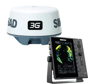 Dedicated 9-inch radar display with a Broadband 3G™ FMCW dome radar.