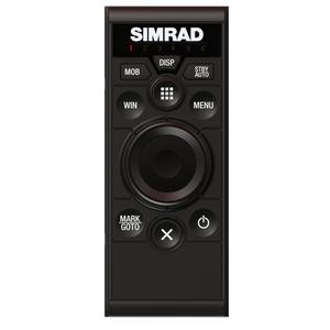 Portrait-orientation keypad and rotary dial controller for Simrad multifunction displays.