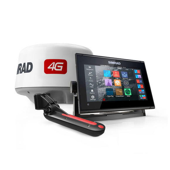 GO9,XSE TOTALSCAN,4G BUNDLE CMAP PRO 9-inch chartplotter and radar display with global basemap, Broadband 4G™ radar and TotalScan™ transducer.